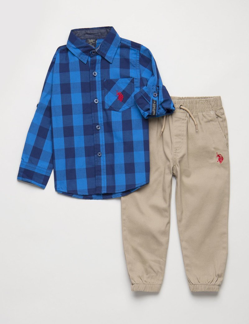 Boys 2 Piece Set - Shirt & Joggers