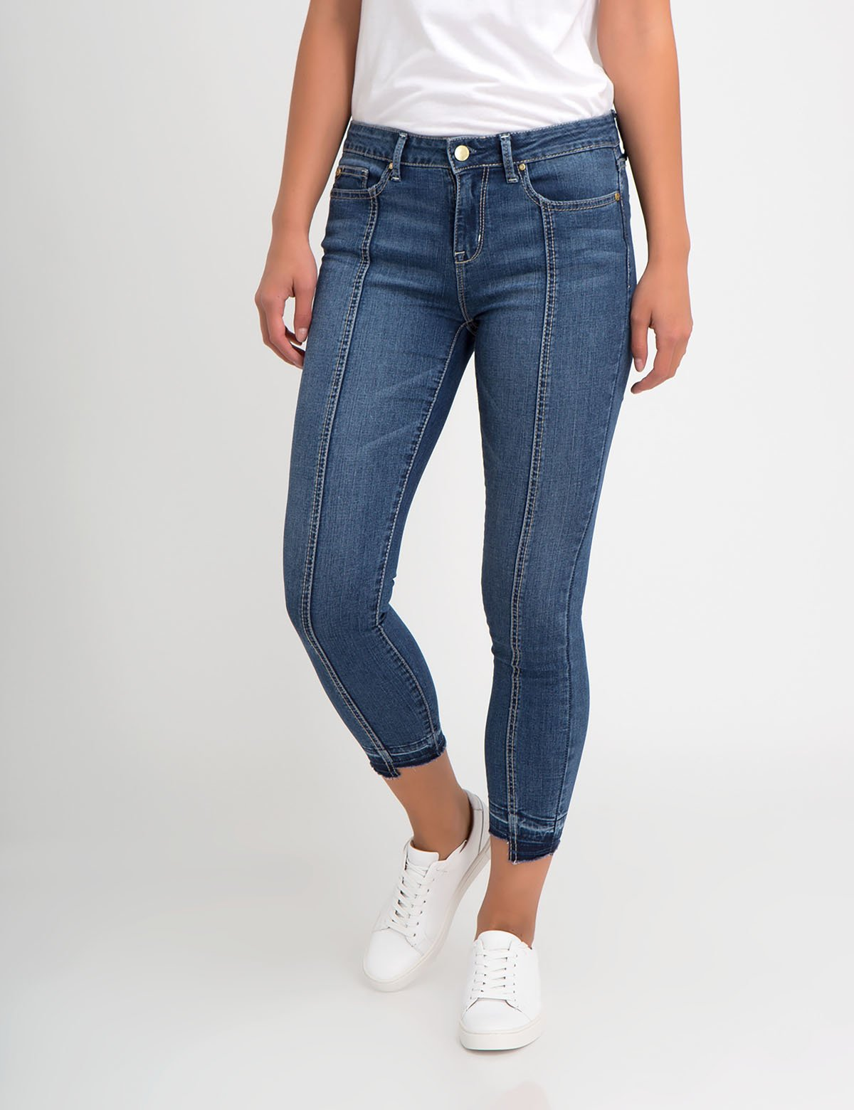 STRETCH DROP HEM JEGGING