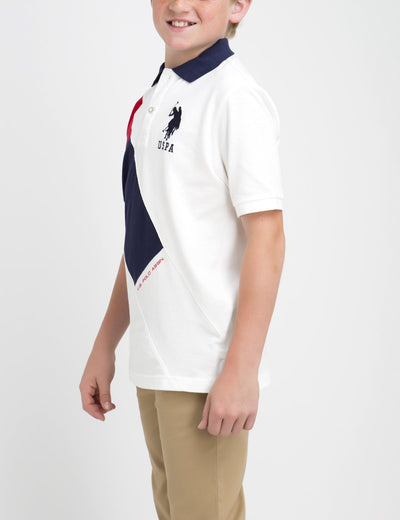 BOYS DIAGONAL POLO SHIRT