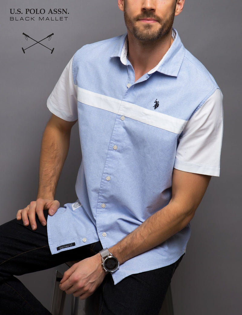 BLACK MALLET CLASSIC FIT OXFORD SHIRT