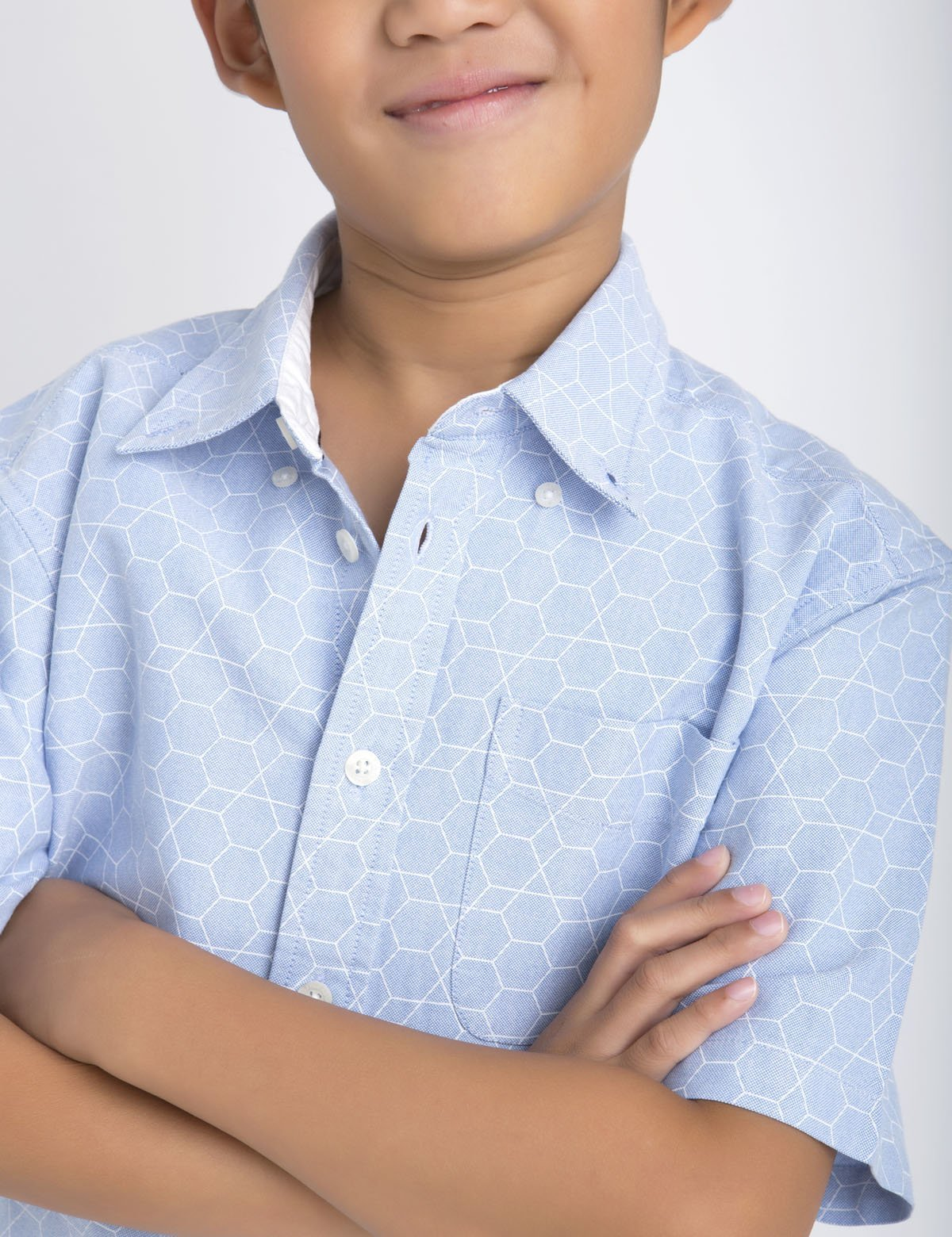 BOYS BLACK MALLET HONEYCOMB SHIRT - U.S. Polo Assn.