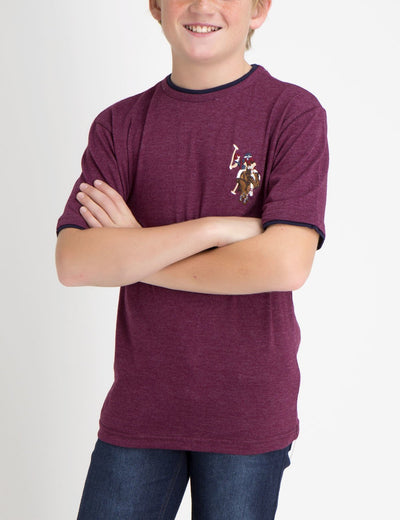 Boys Crew Neck Multi-Color Logo Tee - U.S. Polo Assn.