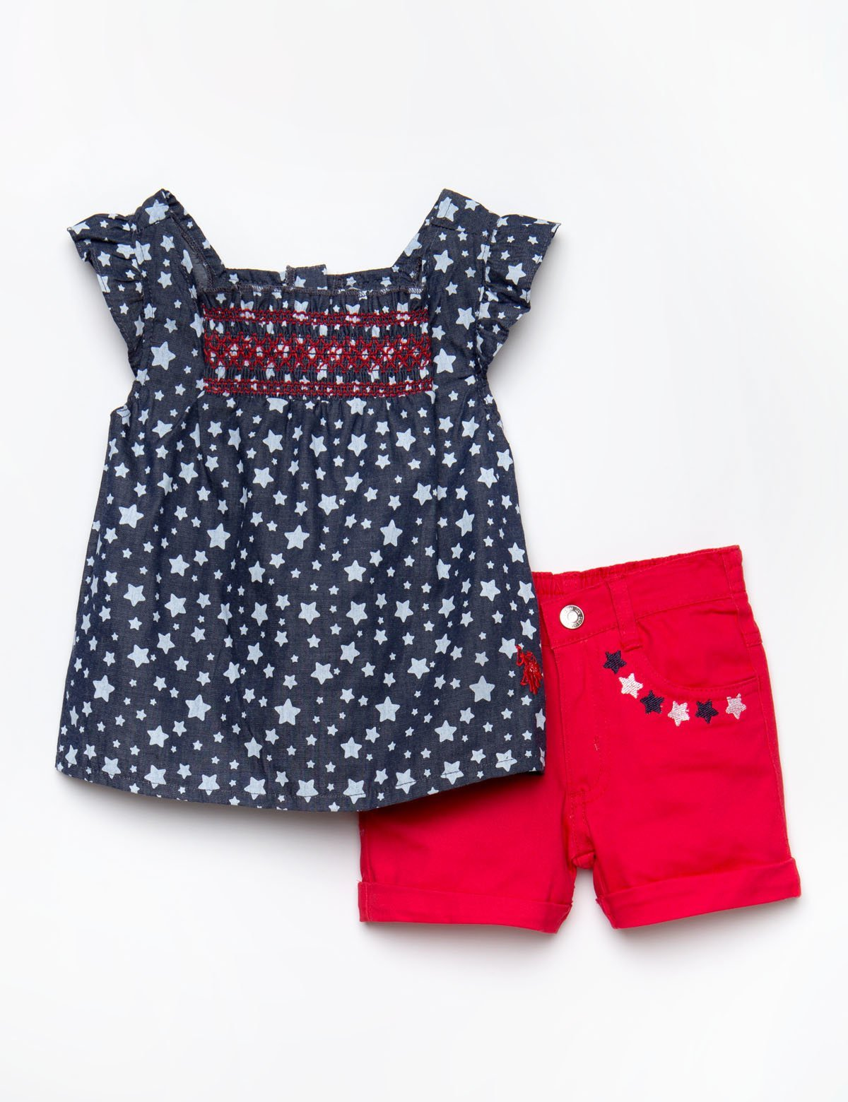 TODDLER 2 PIECE SET - SMOCKED TOP & SHORTS