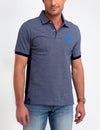 Big Logo Striped Polo Shirt