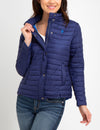 LIGHTWEIGHT PUFFER JACKET WITH BACK DRAW CORD