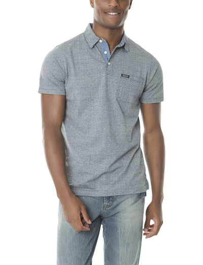 STRIPE JACQUARD POLO SHIRT