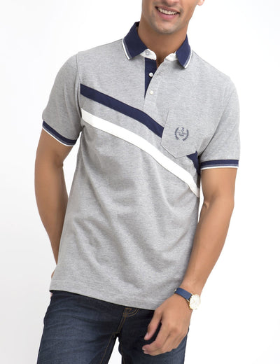 DIAGONAL STRIPED POLO SHIRT - U.S. Polo Assn.