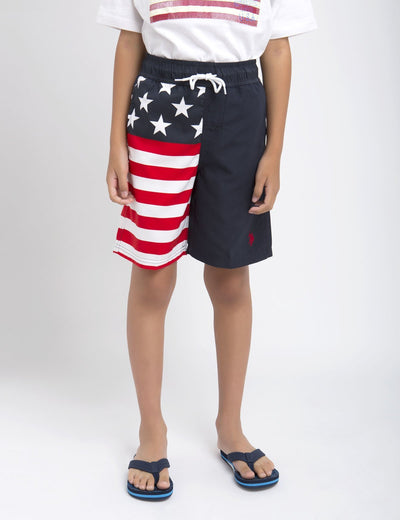 Boys American Flag Board Short - U.S. Polo Assn.