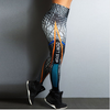 "Women Elastic Skinny Leggings 3D Printed ""Don't Stop"""