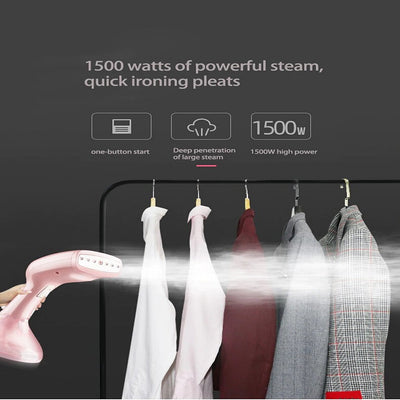 Handheld Portable Steamer, 15 Seconds Fast-Heat Steam Ironing Machine 1500W
