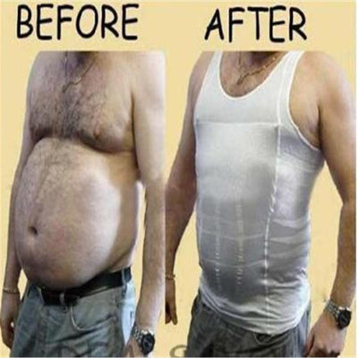 Body Shaper - Men Slimming Lost Weight Vest Shirt Corset Gym Clothing