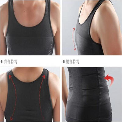 Men Slimming Lost Weight Vest Shirt - Corset Body Shaper Gym Clothing
