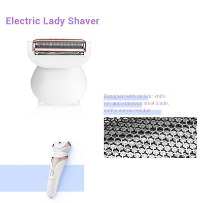 Electric 4 in 1 Women Shaver With Facial Depilation Machine