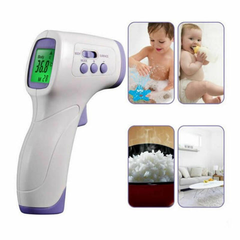 In Stock No Contact IR Digital Forehead Thermometer - For Adults or Kids