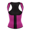 9 Steel Boned Pink Latex Waist Trainer Vest With Straps