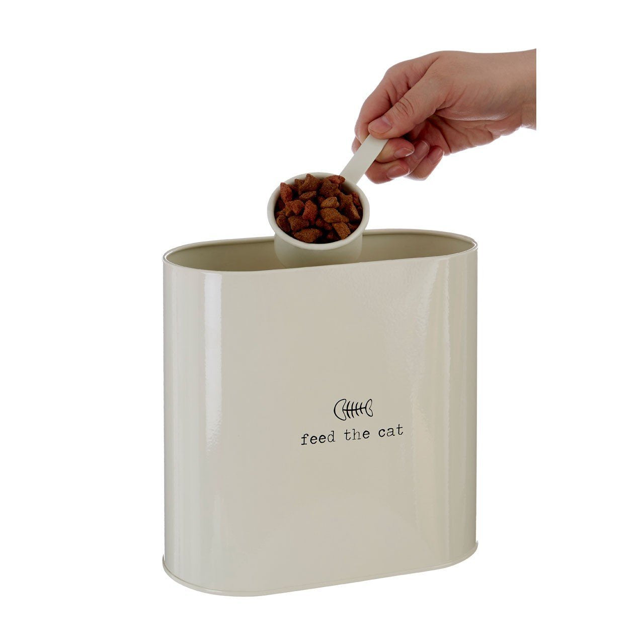 Large Stainless Steel Cat Food Storage Container - 12L