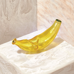 Edie Parker glass banana pipe