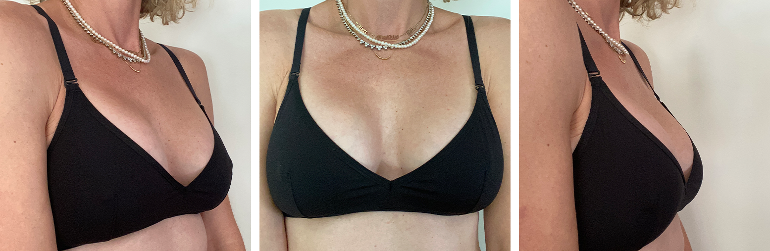 Triangle Soft Bra - 3/4, Front, and Side