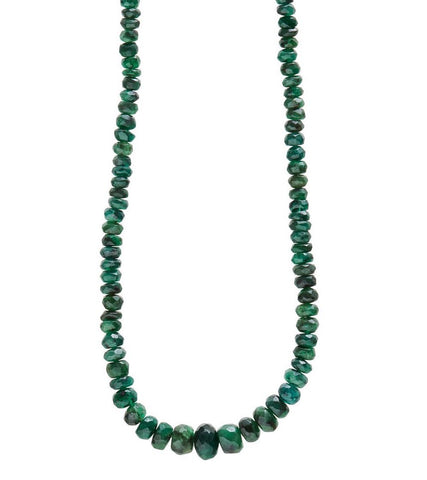 House of Harlow 1960 Raw Emerald Necklace