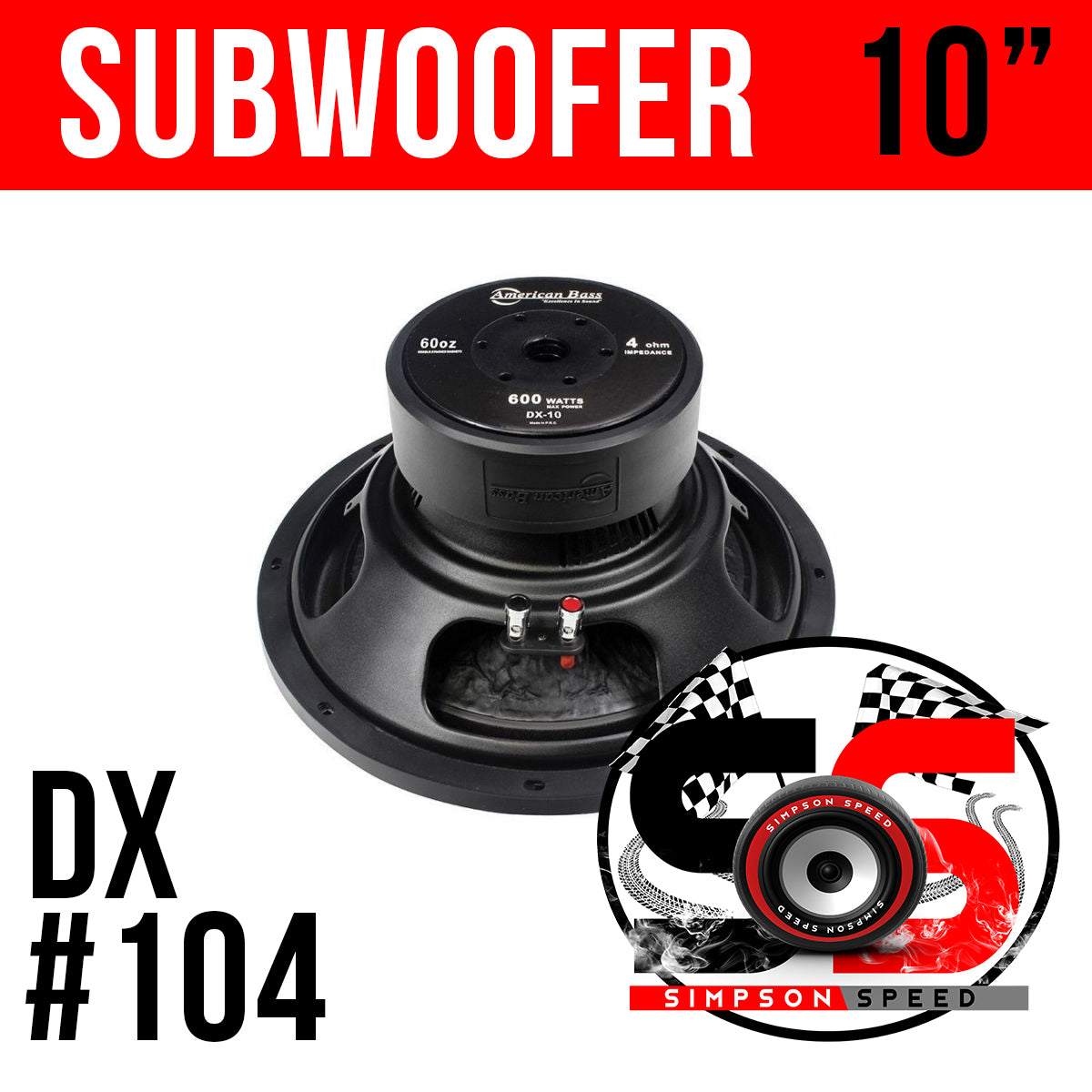 DX 10 American Bass Subwoofer