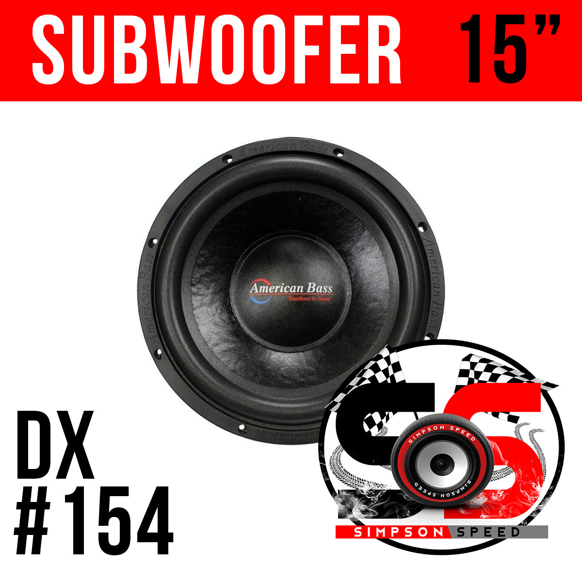 DX 15 American Bass Subwoofer