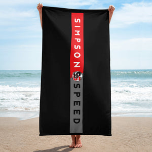 Black Towel Red Bumper Sticker