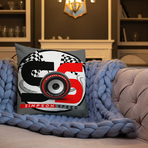 Red and grey logo Premium Pillow