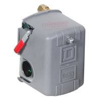 Square D - Pressure Switch w/Lever /Unloader 95-125 PSI, 1/4 FPT -Up to 5hp PN: 9013FHG-32J52M1X