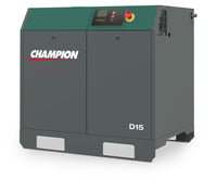 Champion D15 - 15hp Rotary Screw AIr Compressor, Base Mounted, 50.1 CFM @ 145 PSI