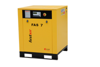 FirstAir FAS073 - 10hp Base Mounted Rotary Screw Air Compressor, 36.1 CFM @ 150 PSI, 230V/3Ph