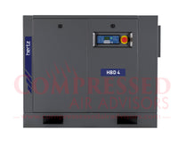 Hertz Kompressoren HBD 4  - 5hp Belt Driven Rotary Screw Air Compressor, Base Mount, 19 CFM @ 125 PSI, 10 Year Warranty Available
