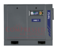 Hertz Kompressoren HBD 7  - 10hp Belt Driven Rotary Screw Air Compressor, Base Mount, 40 CFM @ 125 PSI, 10 Year Warranty Available