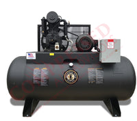Industrial Gold - 7.5hp Reciprocating Air Compressor, 80 Or 120 Gallon Horizontal Air Receiver, 24 CFM @ 175 PSI, 6 Year Warranty Available