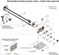 Champion - Remote Mount Choke and Key switch – Kohler 14hp