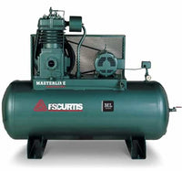 FS Curtis ML25 - 25hp Masterline Series Heavy Duty Industrial Air Compressor, 200 Gallon Horizontal Tank, C98 Pump, 82.4 CFM @ 175 PSI