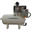 Powerex OTS - 10hp Oil-Less Reciprocating Air Compressor, OPT100 Pump, 35.4CFM @ 100 PSI
