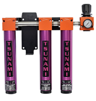 Tsunami - Air Filtration Package #6 water separator, oil coalescing filter, activated carbon filter (3-stage) w/ regulator