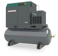 Champion D10 Air System- 10hp Rotary Screw AIr Compressor, 120 Gallon Tank, Refrigerated Air Dryer, 32 CFM @ 145 PSI