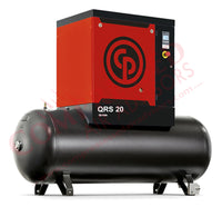 Chicago Pneumatic QRS 20 125 TM - 20hp Rotary Screw Air Compressor, 132 Gallon Tank Mounted, 82.2 CFM @ 125 PSIG, 208/230/460V/3Ph