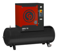 Chicago Pneumatic QRS 10 125 HP TM, 10hp Rotary Screw Air Compressor, 132 Gallon Tank Mounted, 40 ACFM @ 125 PSI,  Tri-Voltage 208-230/460V/3Ph