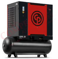Chicago Pneumatic QRS 25 125 TM - 25hp Rotary Screw Air Compressor,  Refrigerated Air Dryer, 132 Gal Tank, 99.4 CFM @ 125 PSIG, 208/230/460V/3Ph