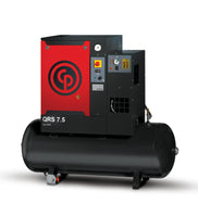 Chicago Pneumatic QRS 7.5 HPD-1 TM, 7.5hp Rotary Screw Air Compressor, Integrated Refrigerated Air Dryer, 60 Gallon Tank Mounted, 21.2 ACFM @ 150 PSI, 230V/1Ph