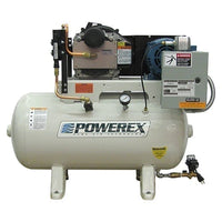 Powerex STS0756 - 7.5hp Scroll Open Tankmount Simplex, 240 Gallon Air Receiver, Electronic Drain, Three Phase