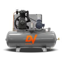 DV Systems TAS-5052 - 7.5hp Heavy Duty Industrial Reciprocating Air Compressor, 80 Gallon Horizontal Air Receiver, 25.9 SCFM @ 150 PSI,  7 Year Limited Warranty