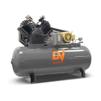 DV Systems VAT-5063- 10hp Heavy Duty Industrial Reciprocating Air Compressor, 120 Gallon Horizontal Air Receiver, 36.8 SCFM @ 150 PSI,  7 Year Limited Warranty