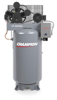 Champion VP5-55-8 - 5hp Two Stage Reciprocating Air Compressor, 80 Gallon Air Receiver, 15.2 ACFM @ 150 PSIG, 230V/1Ph