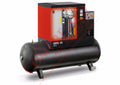 Chicago Pneumatic QRS 15D 15 HP TM, 15hp Rotary Screw Air Compressor, Refrigerated Air Dryer, 132 Gallon Tank Mounted, 51.0 ACFM @ 150 PSI,  Tri-Voltage 208-230/460V/3Ph