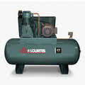 FS Curtis CT10 - 10hp Two Stage Reciprocating Air Compressor, CT75 Pump, 120 Gallon Horizontal Receiver, 29.7 CFM @ 175 PSI