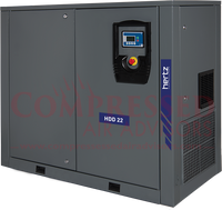 Hertz Kompressoren - HDD22 - 30hp Fixed Speed Direct Drive Rotary Screw Air Compressor, 134.2 CFM @ 125 PSI, 230V/460V/3Ph, 10 Year Warranty Available