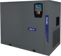 Hertz Kompressoren HVD 55 - 75hp Variable Speed Rotary Screw Air Compressor, Base Mount, 341 SCFM @ 125 PSI